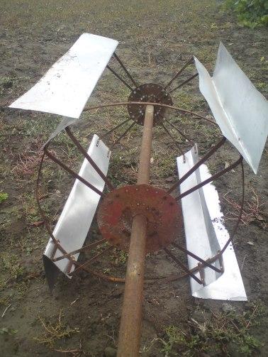 Turbina partea superioară, asamblarea cu axul