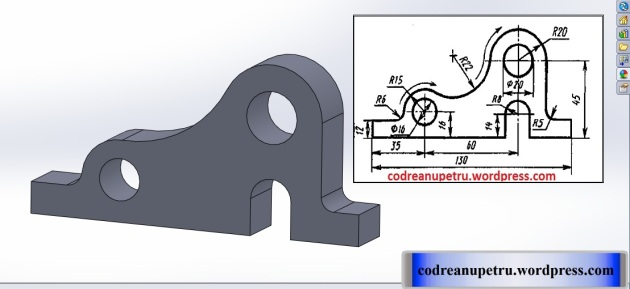 Tutorial Solidworks exercițiul 1.