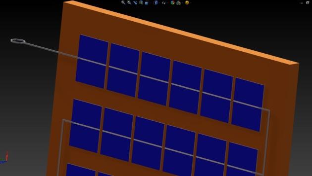 Panou fotovoltaic model 3D solidworks.