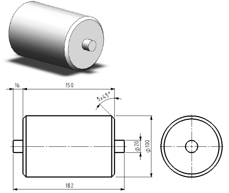 Rolă - tutorial solidworks